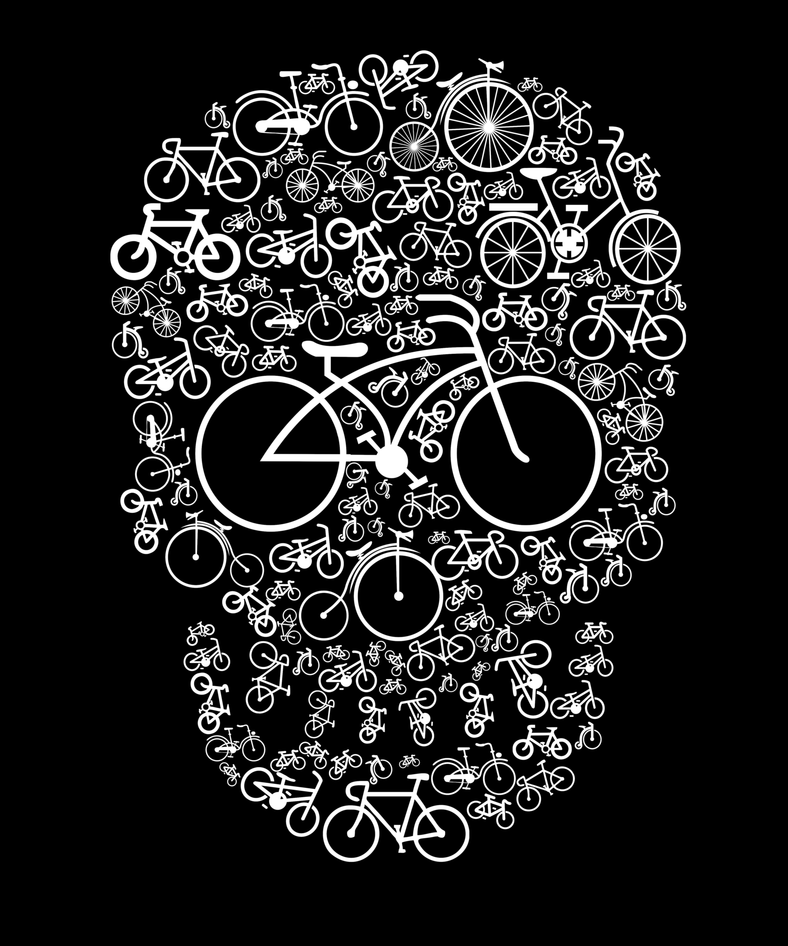 H14 – Bicycle Skull